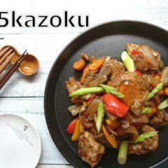 肉団子と野菜のケチャップ炒め