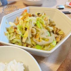 夫野菜炒め